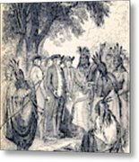 William Penns Treaty With The Indians Metal Print