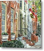 William Street Summer Metal Print