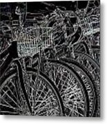 Williamsburg Bikes Metal Print
