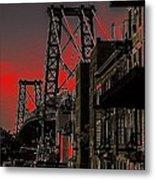 Williamsburg Bridge Abstract Metal Print