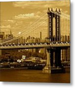 Williamsburg Bridge New York City Metal Print