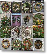 Williamsburg Christmas Collage Squared 2 Metal Print