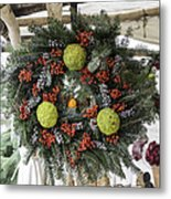 Williamsburg Wreath Squared Metal Print