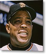 Willie Mays Close-up Metal Print by Retro Images Archive
