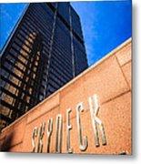 Willis-sears Tower Skydeck Sign Metal Print by Paul Velgos
