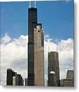 Willis Tower Aka Sears Tower Metal Print by Adam Romanowicz