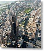 Willis Tower Southwest Chicago Aloft Metal Print
