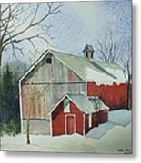 Williston Barn Metal Print