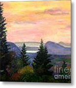 Willoughby Gap From Burke Mountain Metal Print