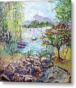 Willow By The Sea Metal Print