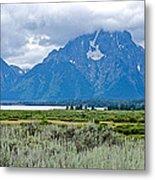 Willow Flats Overlook In Grand Teton National Park-wyoming   Metal Print