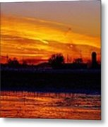 Willow Rd Sunset 2.27.2014 Metal Print