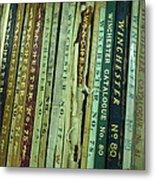 Winchester Catalogs Metal Print