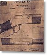 Winchester Rifle Patent Metal Print