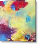 Wind Abstract Painting Metal Print