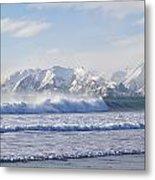 Wind And Waves On Kodiak Metal Print
