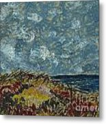 Wind Blowing The Clouds Around Over The Sea. Rincon Ventura California Metal Print