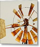 Wind Driven Rust Machine Metal Print