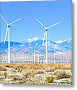 Wind Farm Palm Springs Metal Print