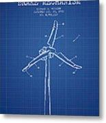 Wind Generator Break Mechanism Patent From 1990 - Blueprint Metal Print