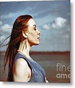 Wind In Her Hair Metal Print by Craig B