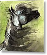 Wind In The Mane 3 Metal Print