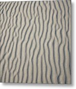 Wind Makes Patterns On The Beach Metal Print