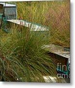 Wind Mark Beach Fountain Metal Print