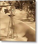 Wind Mill Metal Print