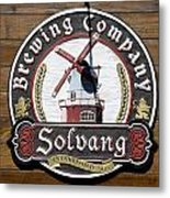 Wind Mill Brewery Sign Metal Print