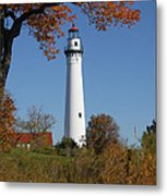 Wind Point Lighthouse 74 Metal Print