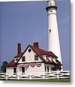 Wind Point Lighthouse Metal Print