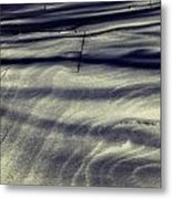 Wind Swept Snow Metal Print