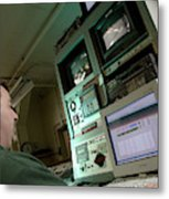 Wind Tunnel Control Room Metal Print
