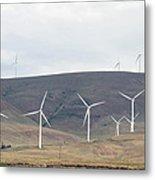 Wind Turbine Power Farm Metal Print