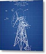 Wind Turbine Speed Control Patent From 1994 - Blueprint Metal Print