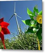 Wind Turbines And Toys Metal Print