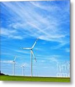 Wind Turbines Farm Metal Print