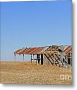 Windblown Barn Metal Print
