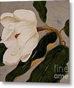 Windblown Magnolia Metal Print
