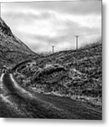 Winding Road In Glen Etive Metal Print by John Farnan