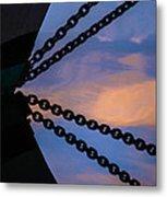 Windjammer Schooner Appledore Bobstays In Abstract Metal Print