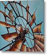 Windmill And Hawk Metal Print