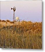 Windmill At Dusk 2011 Metal Print
