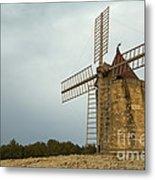 Windmill, France Metal Print