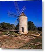 Windmill In El Pilar De La Mola On Formentera Metal Print