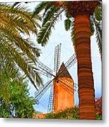 Windmill In Palma De Mallorca Metal Print