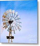 Windmill In Winter Metal Print