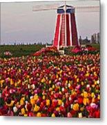 Windmill Of Flowers Metal Print