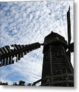 Windmill On A Cloudy Day Metal Print